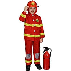 Boy's Red Fire Fighter Costume