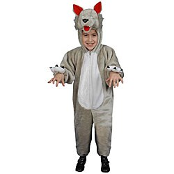 Plush Wolf Toddler Costume