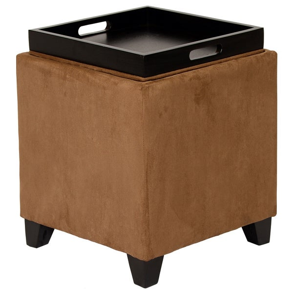 Microfiber Storage Ottoman - Microfiber Storage Ottoman - Free Shipping Today - Overstock.com