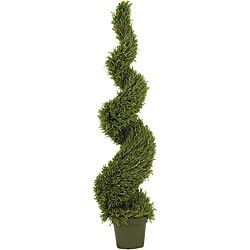 Indoor/ Outdoor Silk 5-foot Rosemary Spiral Tree