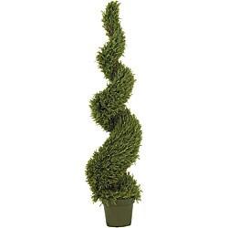 Indoor/ Outdoor Silk 5-foot Rosemary Spiral Tree