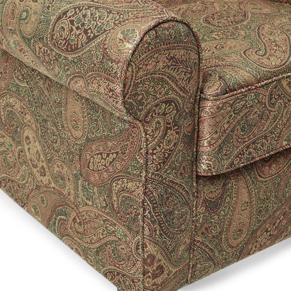 Enjoyable Shop Copper Grove Bernsdorf Hand Tied Paisley Arm Chair And Machost Co Dining Chair Design Ideas Machostcouk