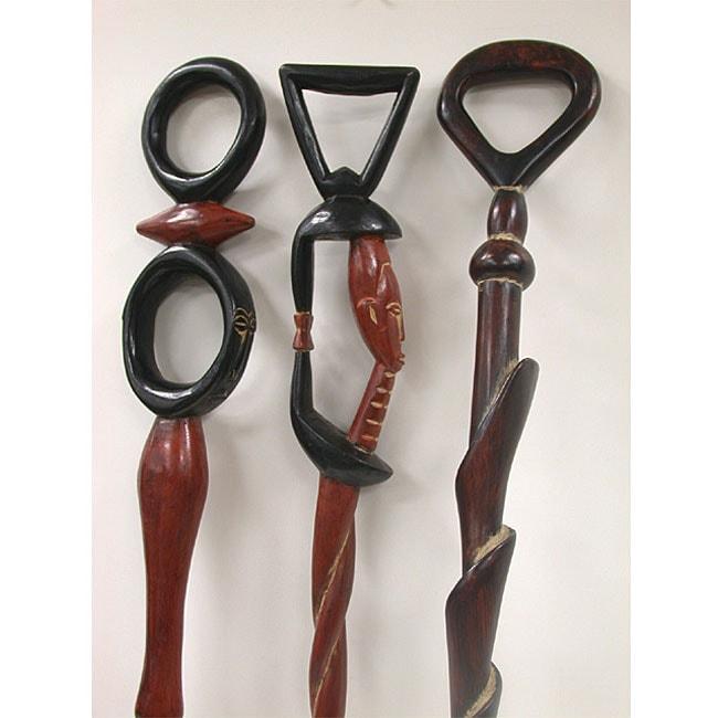 Handmade Sese Walking Stick (Ghana)