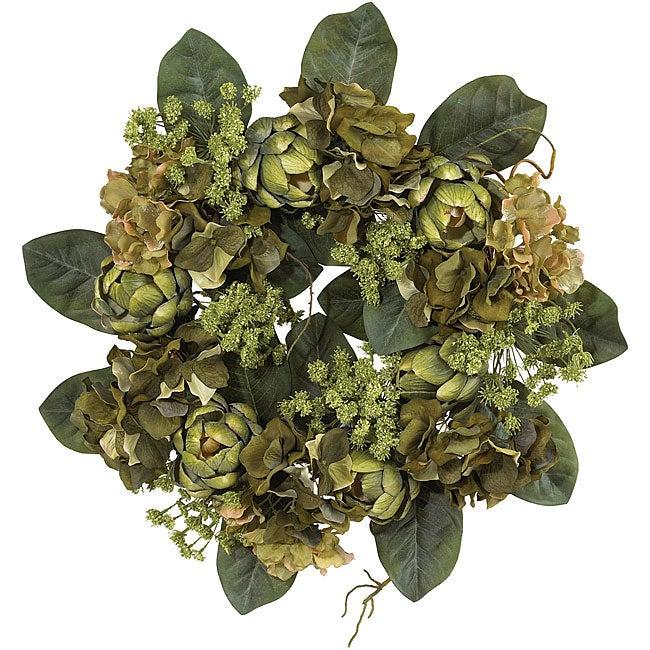 Artichoke Silk Floral Wreath