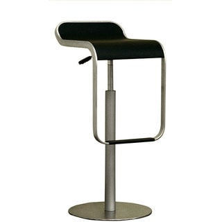 "Modern Black Plastic 26-31"" Adjustable Bar Stool by Baxton Studio"
