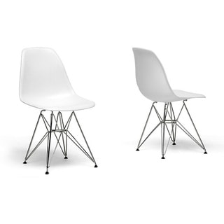 Ronnie Wire Base White Chairs (Set of 2). Opens flyout.