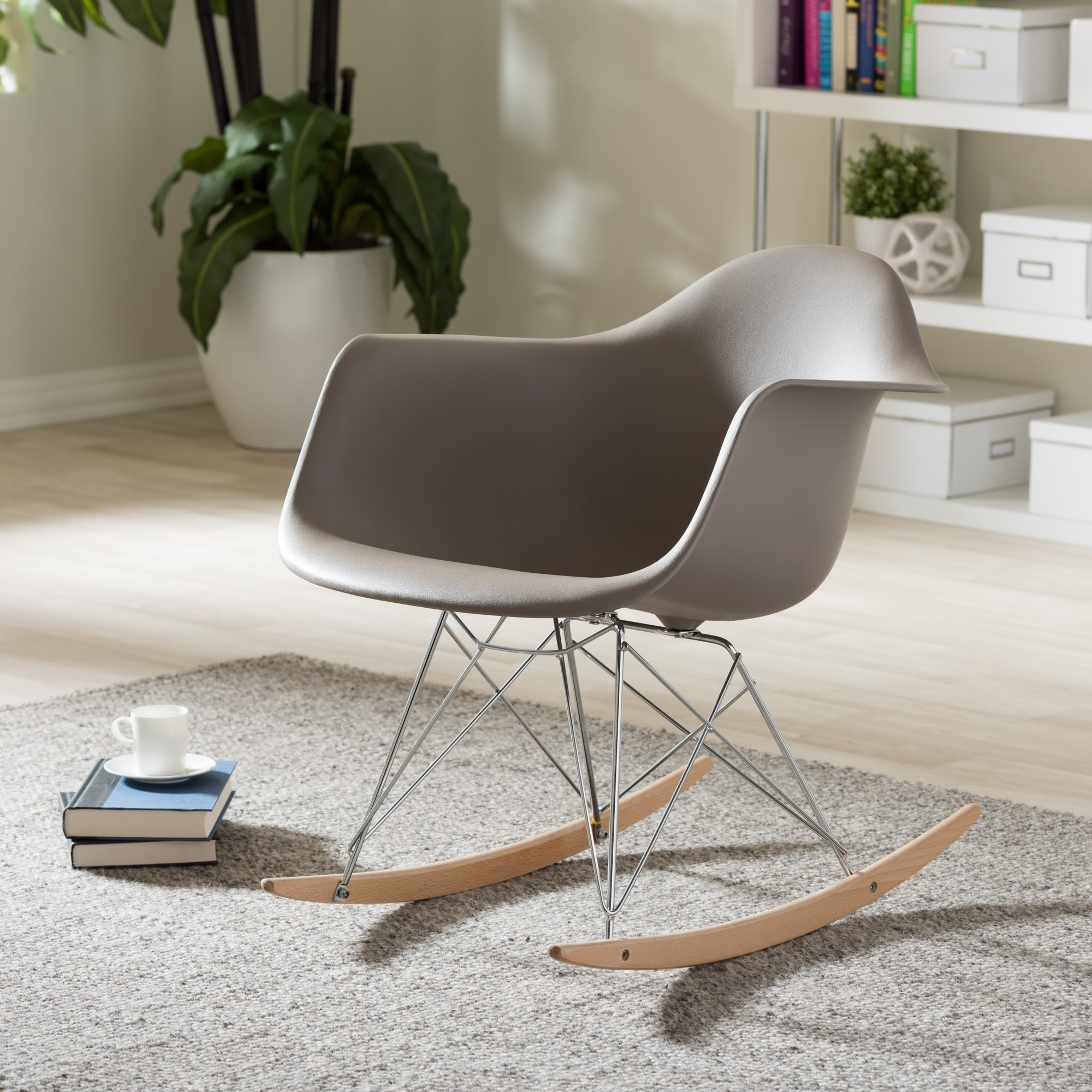 Vinnie Small White Cradle Chair Free Shipping On Orders Over 45 3351579