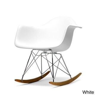 Palm Canyon Monte Small White Cradle Chair (Option: White)