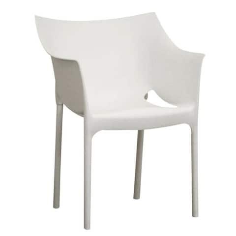 Modern Plastic Dining Chair 2-Piece Set by Baxton Studio