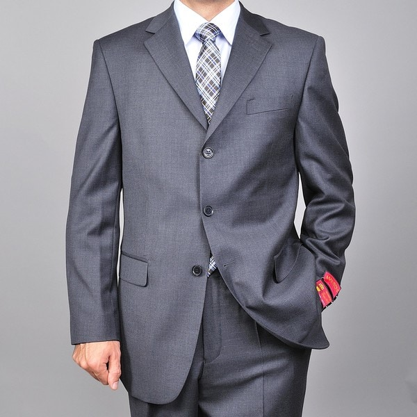 Red Label 3-button Charcoal Grey Wool Suit
