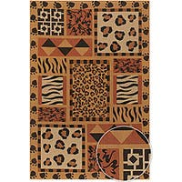 Artist's Loom Hand-woven Transitional Animal Print Natural Eco-friendly Jute Rug (5'x7'6)