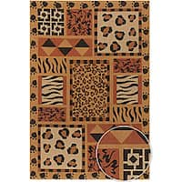Artist's Loom Hand-woven Transitional Animal Print Natural Eco-friendly Jute Rug (9'x13')