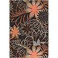 Artist's Loom Hand-tufted Transitional Floral Wool Rug (5'x7'6) - 5' x 7'6