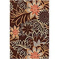 """Artist's Loom Hand-tufted Transitional Floral Wool Rug (7'9x10'6) - 7'9"""" x 10'6"""""""