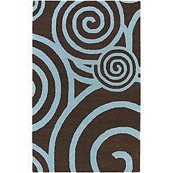 Artist's Loom Hand-tufted Contemporary Geometric Wool Rug (5'x7'6) - 5' x 7'6 - Thumbnail 0