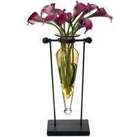Amber Amphora Vase with Stand