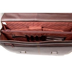 Smooth Leather Briefcase Free Shipping Today Overstock