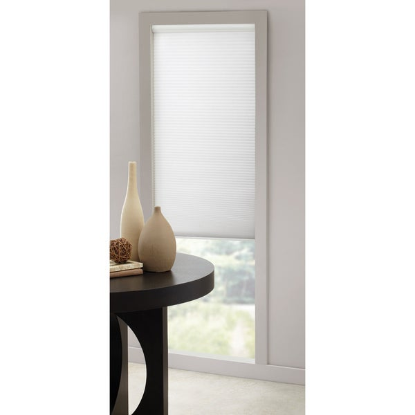 White Cordless Honeycomb-designed Cellular Window Shade