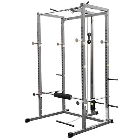 Valor Fitness BD-7 Power Rack Exercise System - Silver