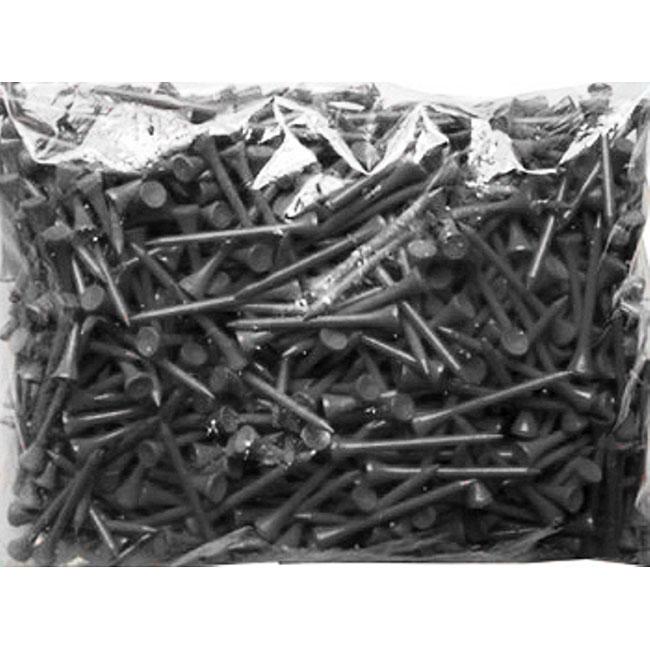 Black 2.75-inch Golf Tees (Pack of 1000)