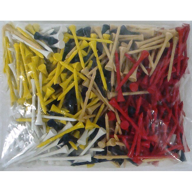 Assorted Color 2.75-inch Tees (Pack of 1000)