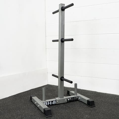 Valor Fitness BH-8 Standard Plate Storage Tree with 1 Bar Storage