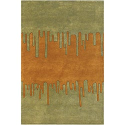 Artist's Loom Hand-tufted Contemporary Abstract Wool Rug (7'9x10'6) - Thumbnail 0