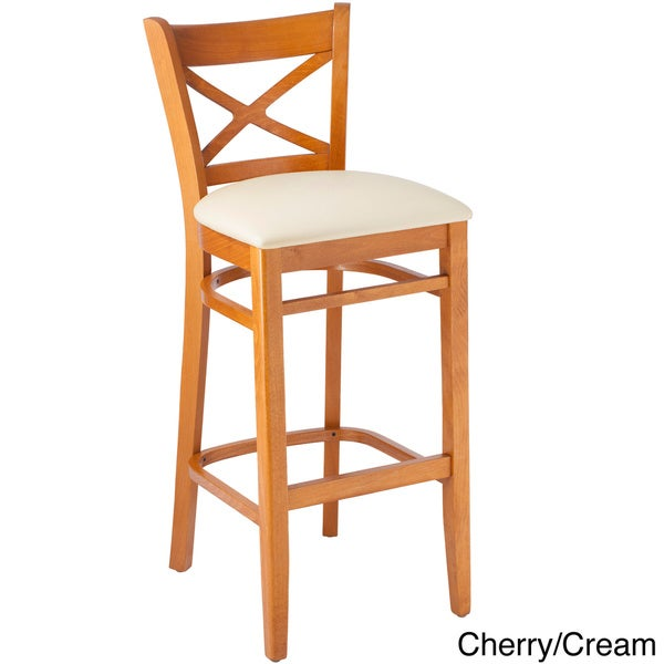Solid Wood X-back Microfiber Seat Bar Stool - Free Shipping Today - Overstock.com - 11445869  sc 1 st  Overstock.com & Solid Wood X-back Microfiber Seat Bar Stool - Free Shipping Today ... islam-shia.org