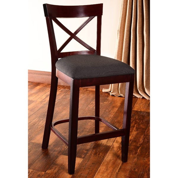 X Back Microfiber Seat Counter Stool 11445884