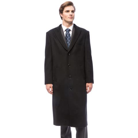 Red Label Wool and Cashmere Black Overcoat