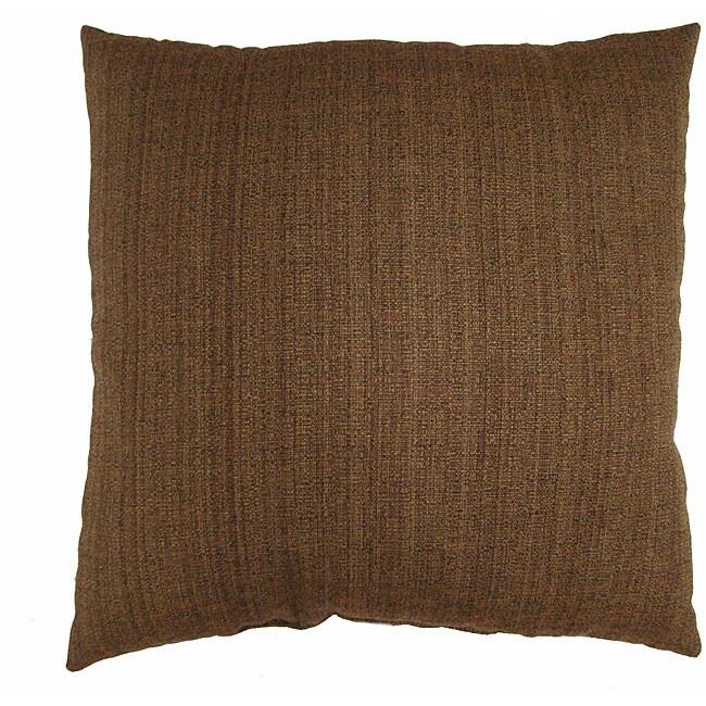 Fiddlestix 24-inch Texured Brown Floor Pillow