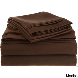 Superior Egyptian Cotton 1500 Thread Count Solid Deep Pocket Sheet Set (More options available)