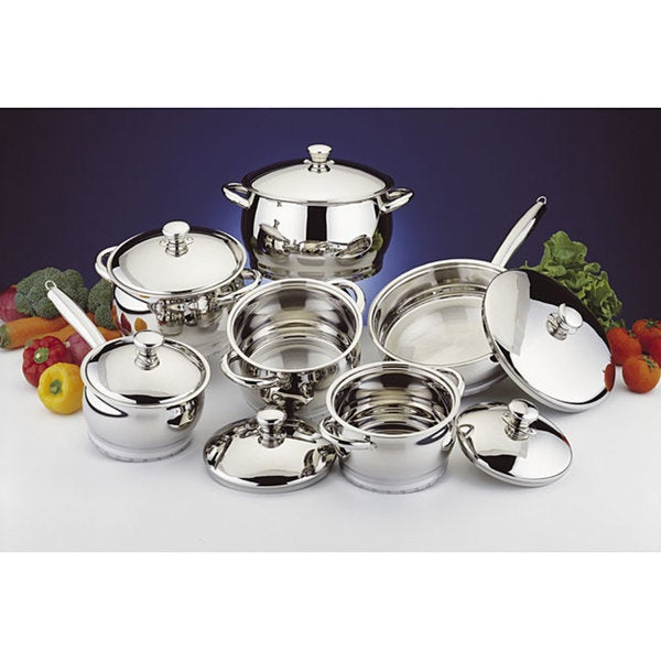 Premium Stainless Steel 12-piece Cookware Set