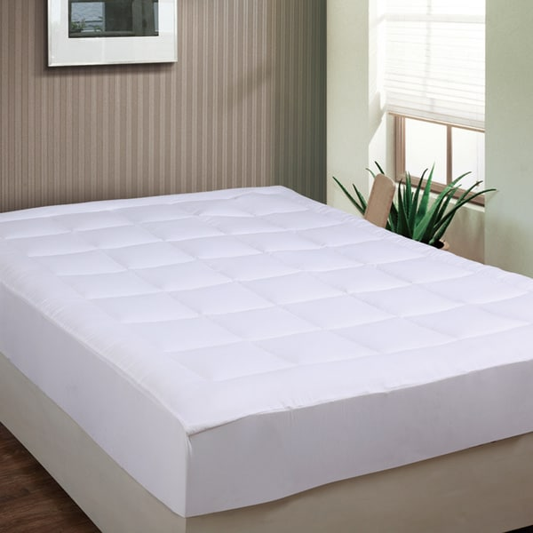 shop luxurious microplush pillow top mattress pad on sale free shipping today overstock. Black Bedroom Furniture Sets. Home Design Ideas