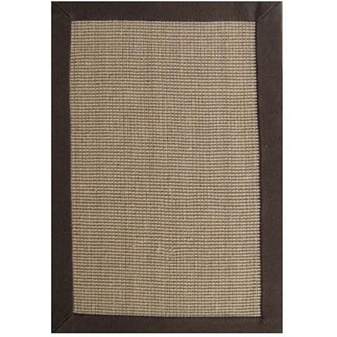 Hand-woven Sisal Choco Brown Jute Rug (5' x 8') - 5' x 8'