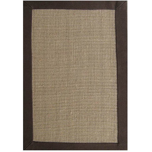 hand woven sisal choco brown jute rug 8 39 x 10 39 free shipping today overstock 11448031. Black Bedroom Furniture Sets. Home Design Ideas