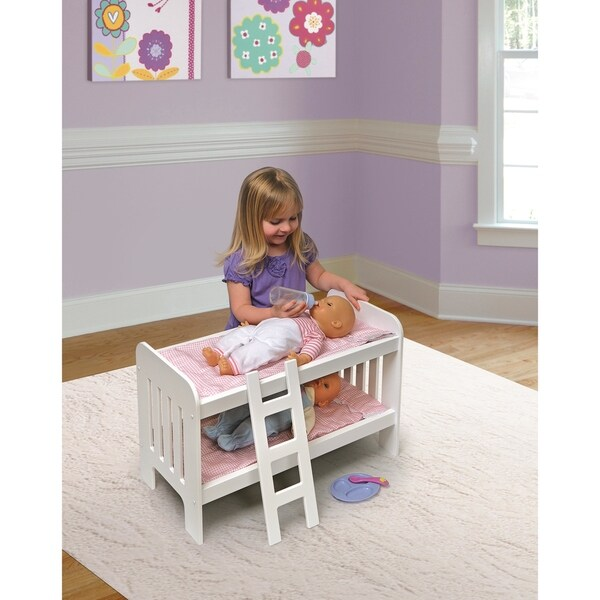 Shop Badger Basket Doll Bunk Bed With Ladder Free Shipping On