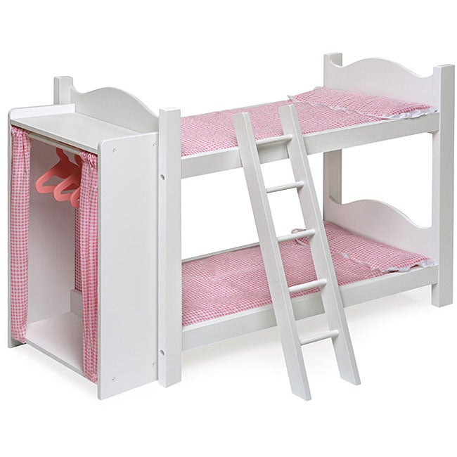 Badger Basket White Doll Bunk Beds With Armoire Free