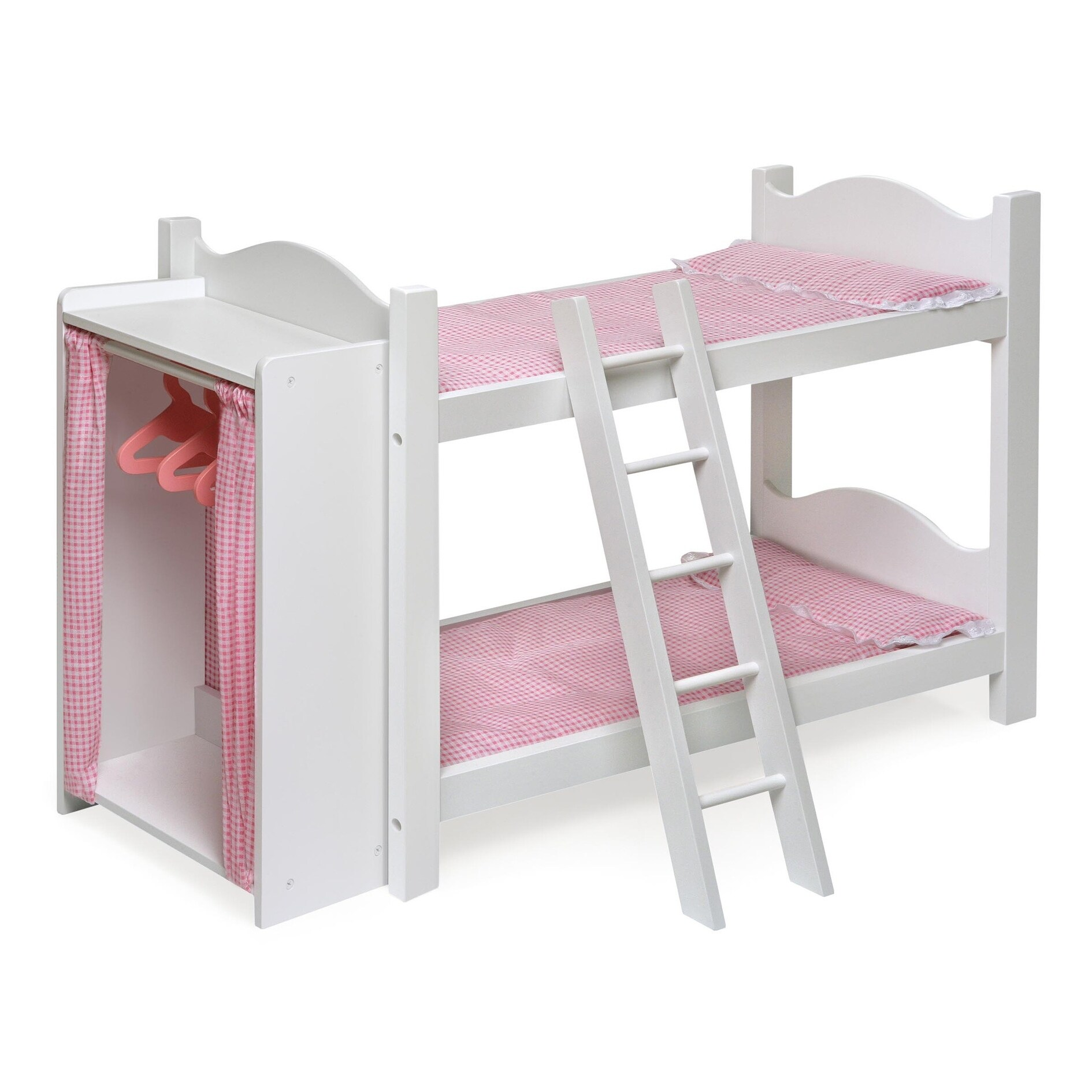 Picture of: Badger Basket Doll Bunk Bed With Armoire On Sale Overstock 3358329