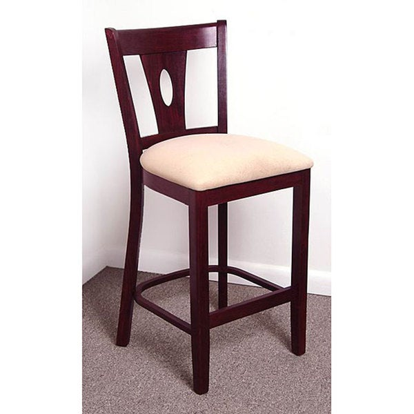 Dark Mahogany Teardrop Counter Stool