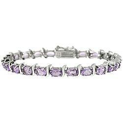 Glitzy Rocks Sterling Silver Amethyst Bracelet
