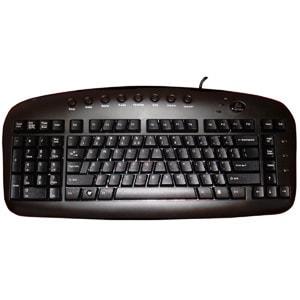 A4Tech Left Handed Keyboard Wired USB Black Via Ergoguys
