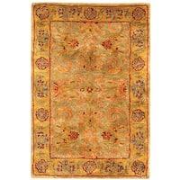 Safavieh Handmade Classic Kasha Gold Wool Rug - 2' x 3'
