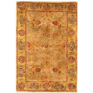Safavieh Handmade Classic Kasha Gold Wool Rug (2' x 3')