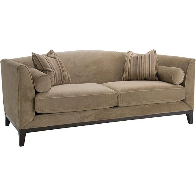 Portofino Camel Fabric Velvet Sofa