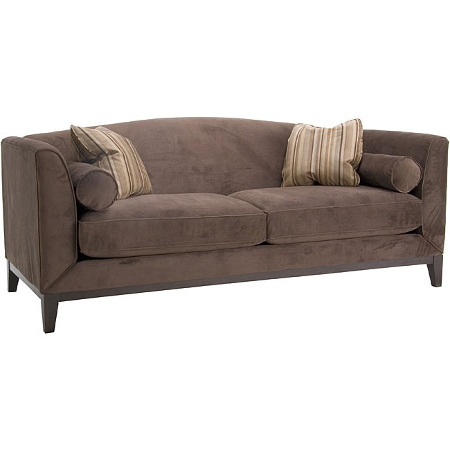Portofino Chocolate Velvet Sofa Free Shipping Today