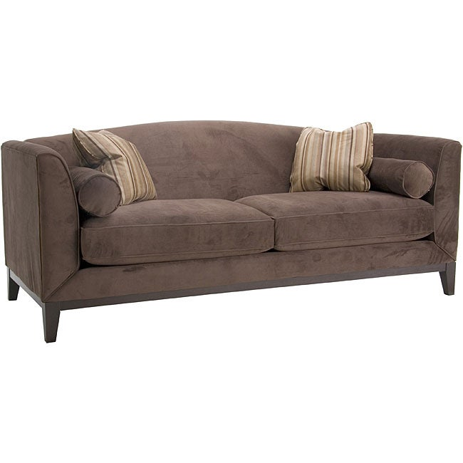 Portofino Chocolate Velvet Sofa