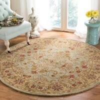 Safavieh Handmade Classic Kasha Gold Wool Rug (3'6 Round) - 3'6 Round