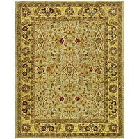 Safavieh Handmade Classic Kasha Gold Wool Rug - 7'6 x 9'6