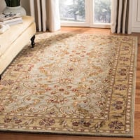 Safavieh Handmade Classic Kasha Gold Wool Rug (8' Round) - 8' Round
